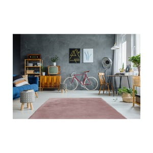 Růžový ručně vyšívaný koberec Arte Espina Rabbit 100, 180x280cm