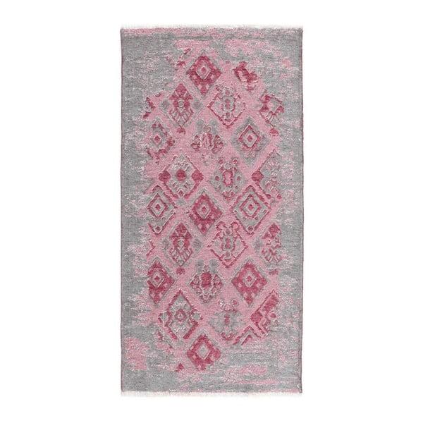 Covor reversibil Homemania Maleah, 77 x 200 cm, roz-gri