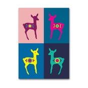 Plakát Srnky Warhol pastel, malý