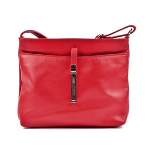 Červená kožená kabelka Roberta M Lasmina