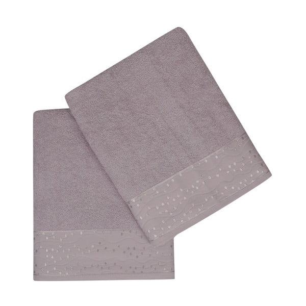 Sada 2 ručníků z čisté bavlny Tomurk, 90 x 150 cm