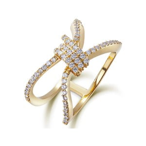 Prsten s bílými krystaly Swarovski Elements Crystals Blanch, ø13mm