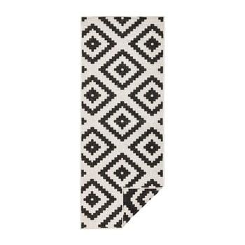 Covor adecvat pentru exterior Bougari Malta, 80 x 250 cm, negru - crem imagine