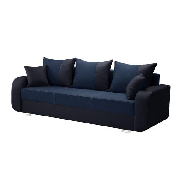 Canapea cu 3 locuri INTERIEUR DE FAMILLE PARIS Destin, albastru închis