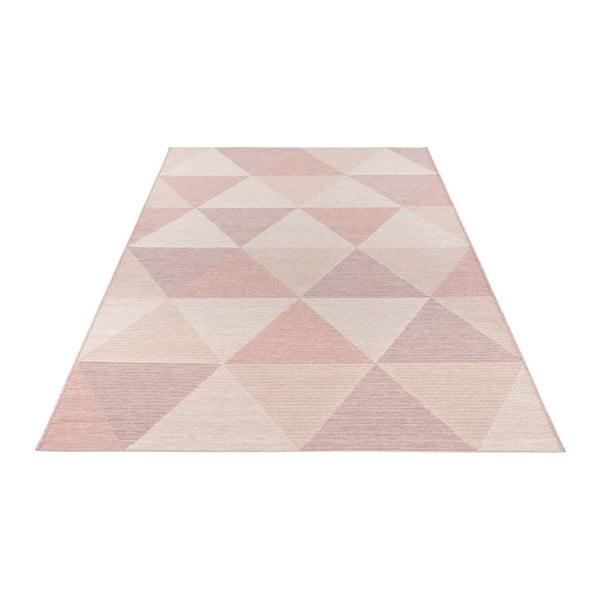 Růžový koberec vhodný i na ven Elle Decor Secret Sevres, 140 x 200 cm