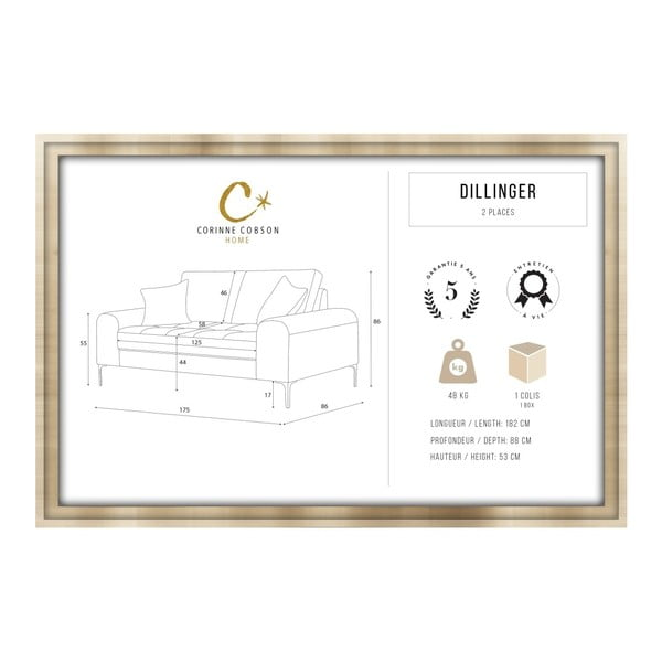 Set canapea gri, 2 scaune albastre, o saltea 140 x 200 cm Home Essentials