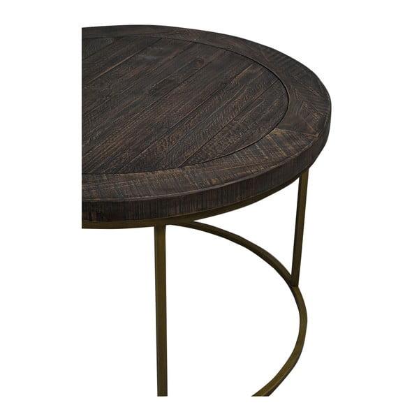 Hnědý dřevěný konferenční stolek Folke Lato