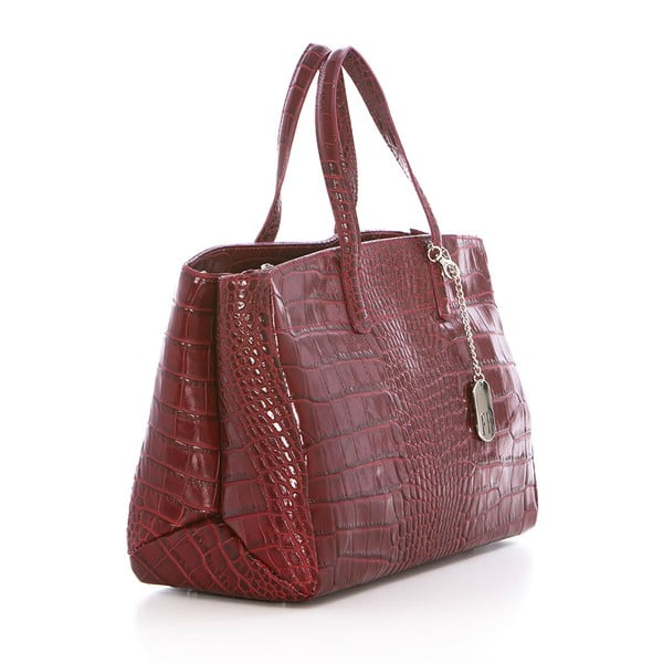 Vínová kožená kabelka Federica Bass Eris