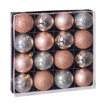 Set 16 decorațiuni de Crăciun Unimasa Copper, bej - argintiu imagine
