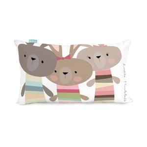Bavlněný oboustranný povlak na polštář Moshi Moshi Rabbit Family, 50x30cm
