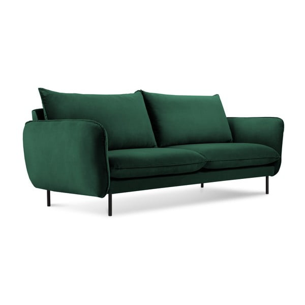 Zielona aksamitna sofa Cosmopolitan Design Vienna, 160 cm