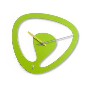 Nástěnné hodiny Seven, zelené
