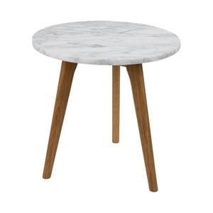 Odkládací stolek Zuiver White Stone, ⌀ 40 cm