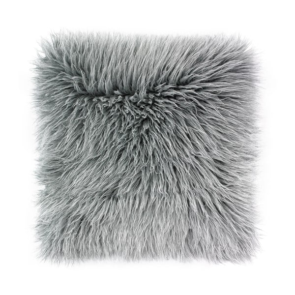Față de pernă WeLoveBeds Fluffy, 50 x 50 cm, gri