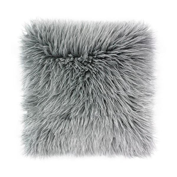 Šedý povlak na polštář WeLoveBeds Fluffy, 50 x 50 cm
