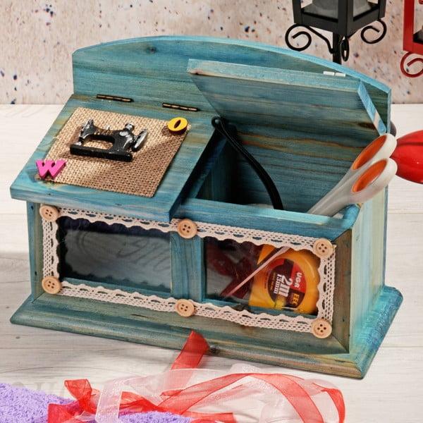 Dřevěný box na šití Blues