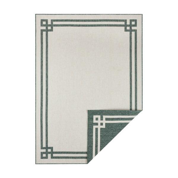 Covor adecvat pentru exterior Bougari Manito, 80 x 150 cm, verde-crem