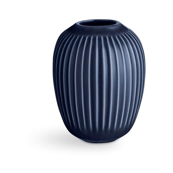 Vază din ceramică Kähler Design Hammershoi,înălțime 10 cm, albastru închis
