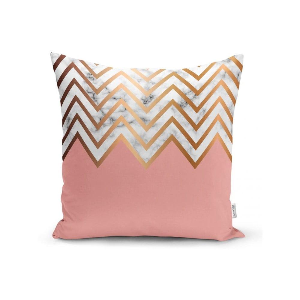 Povlak na polštář Minimalist Cushion Covers Half Pink Zig Zag, 45 x 45 cm