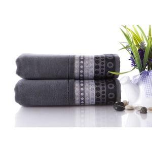 Set dvou ručníků Golf Gray, 50x90 cm