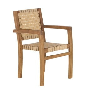 Krémová zahradní židle z recyklovaného teakového dřeva SOB Garden