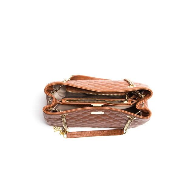 Kožená kabelka Isabella Rhea 2055, koňak