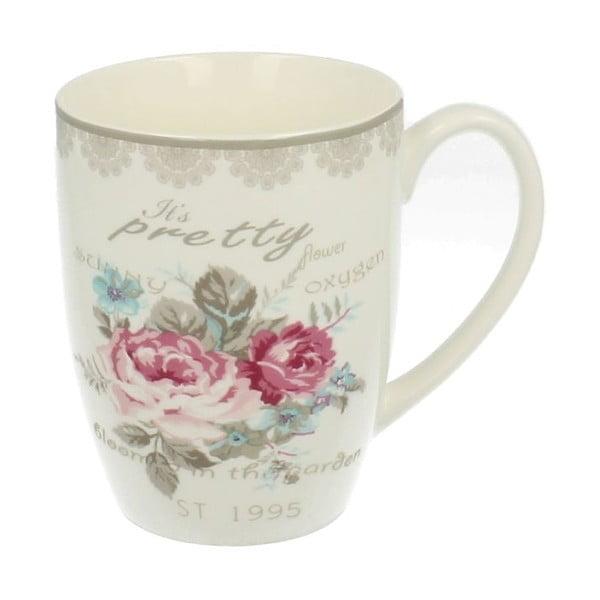Porcelánový hrnek Roses, 0,4 l