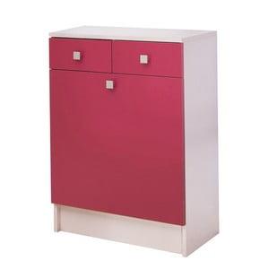 Růžová skříňka na prádlo 13CasaClick