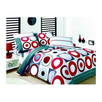 Lenjerie de pat cu cearșaf Esra, 200 x 220 cm de la Pearl Home