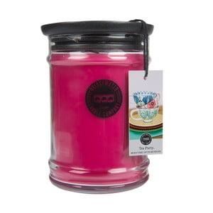 Vonná svíčka ve skleněné dóze s vůní broskve a růže Creative Tops Tea Party, doba hoření 140-160 hodin