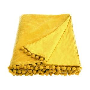 Žlutý přehoz Ragged Rose Belinda Velvet