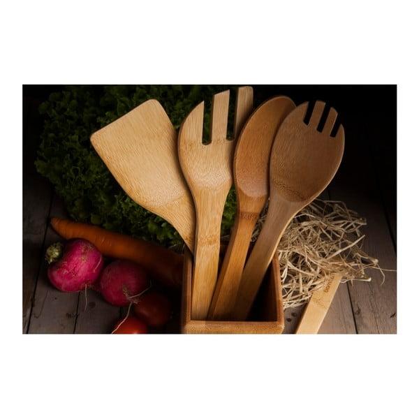 Set ustensile de bucătărie din bambus Bambum Ravioli