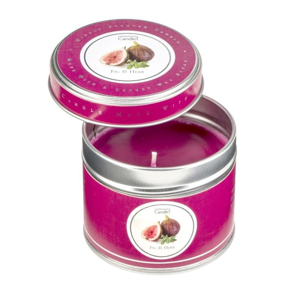 Illatgyertya fémdobozban füge és gyógynövények illatával, 32 óra égési idő - Copenhagen Candles