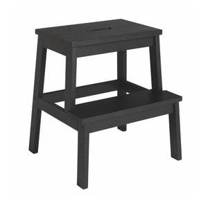 Černá dubová stolička/schůdky Rowico Nanna