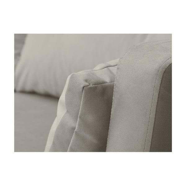 Béžová třímístná pohovka Mazzini Sofas Elena, slenoškou na pravém rohu