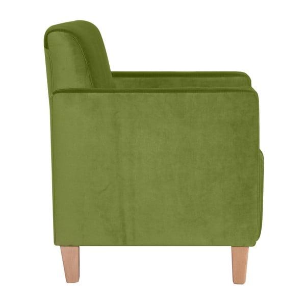 Zelené křeslo Max Winzer Milla Velvet
