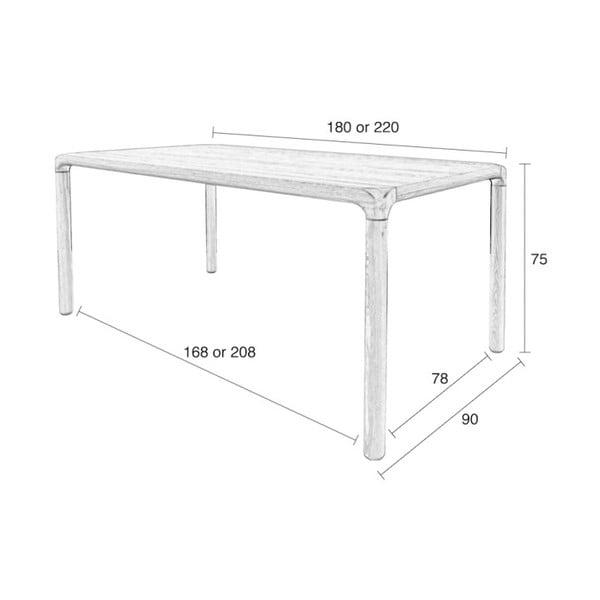 Černý jídelní stůl Zuiver Storm, 220x90cm