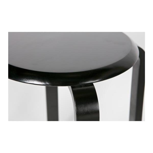 Černá stolička z březového dřeva De Eekhoorn Diede