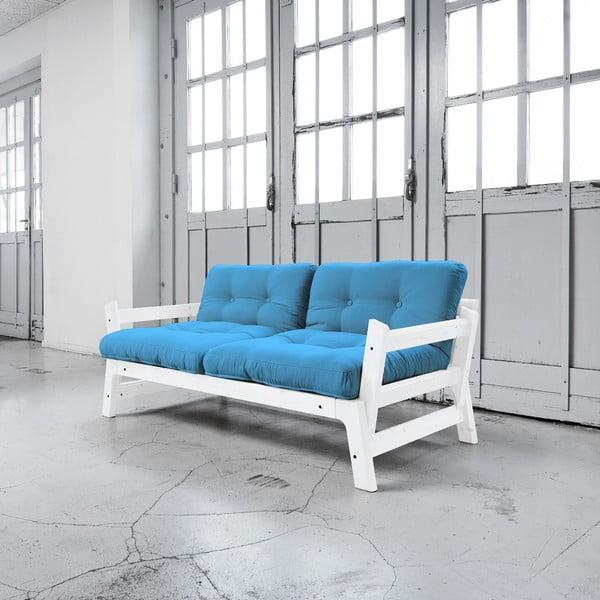 Rozkládací pohovka Karup Step White/Horizon Blue