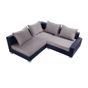 Canapea cu șezlong partea stângă Interieur De Famille Paris Aventure gri - albastru