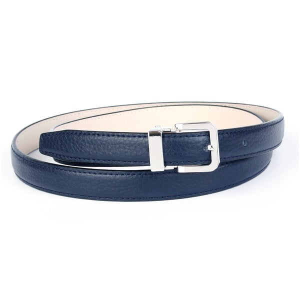 Dámský kožený pásek 14T80 Dark Blue, 80 cm