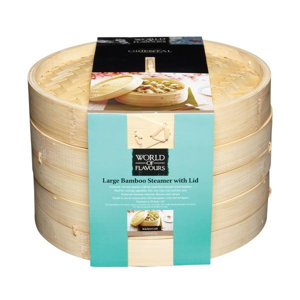 Bambusový napařovač Kitchen Craft Oriental, 23 cm