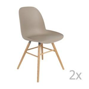 Sada 2 šedohnědých židlí Zuiver Albert Kuip