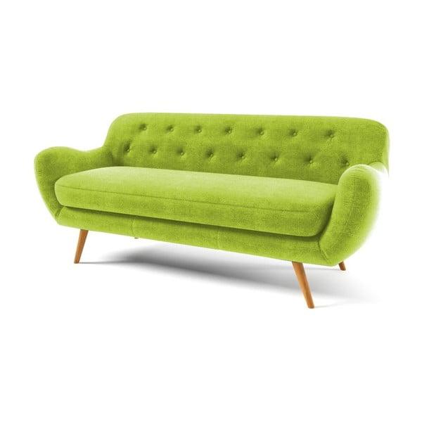 Sofa Zefir pro tři, zelené