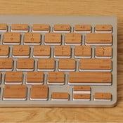 Dřevěný skin pro klávesnici Apple Extended, třešeň