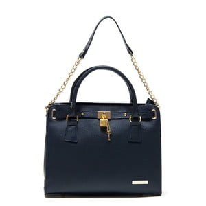 Tmavě modrá kožená kabelka Roberta M Bea