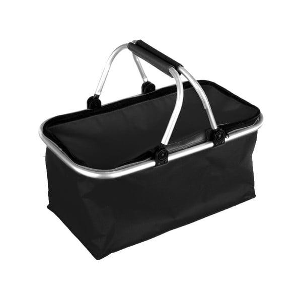 Přenosný nákupní košík Vetro, černý