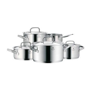 Set 5 oale din oțel inoxidabil cu capac WMF Cromargan® Gourmet Plus de la WMF