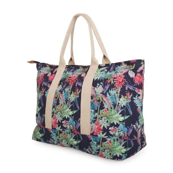 Modrá plátěná taška s květy Lois Playera
