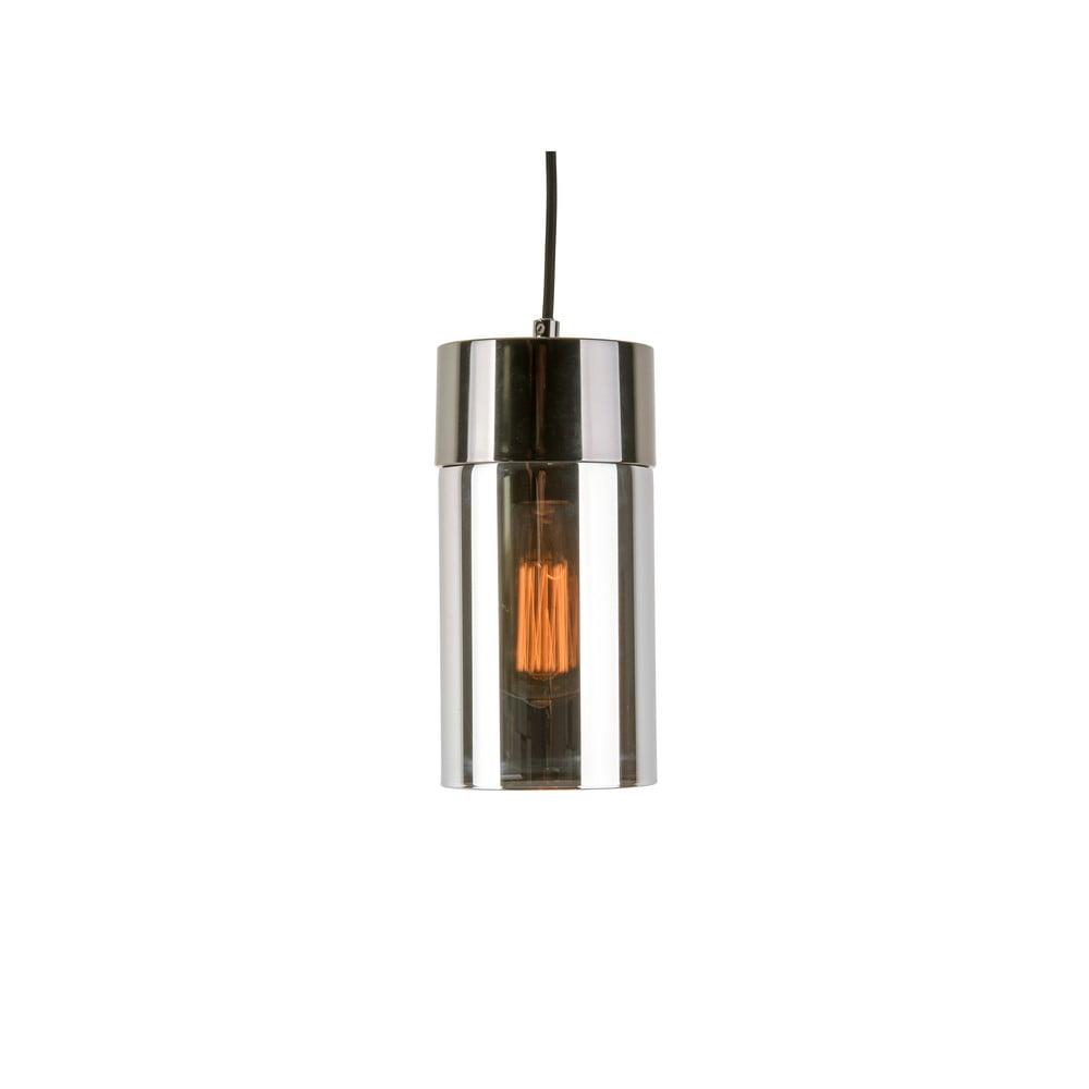 Závěsné svítidlo v metalicky šedé barvě se zrcadlovým leskem Leitmotiv Lax